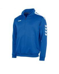 Hummel Valencia 1/4 Zip Top Blauw Wit