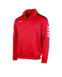 Hummel Valencia 1/4 Zip Top Rood Zwart