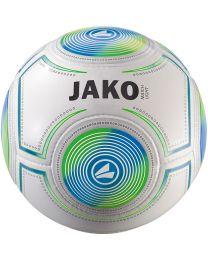 JAKO Lightbal Match 14 p./handgenaaid wit/JAKO blauw/fluogroen-290g