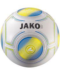 JAKO Lightbal Match 14 p./handgenaaid wit/geel/JAKO blauw-290g