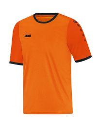 JAKO Shirt Leeds KM fluo oranje/oranje/zwart