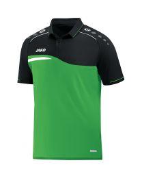 JAKO Polo Competition 2.0 soft groen/zwart