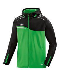 JAKO Jas met kap Competition 2.0 soft groen/zwart