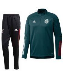 adidas Bayern Munchen Trainingspak 2020-2021 Groen Zwart