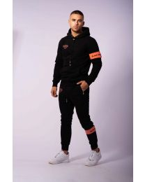 BLACK BANANAS COMMAND HOODY SUIT BLACK/PEACH