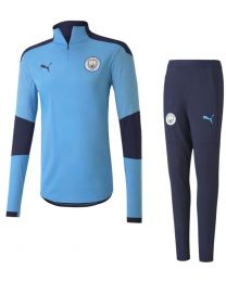 Puma Manchester City 1/4 Zip Trainingspak 2020-2021 kids Blauw