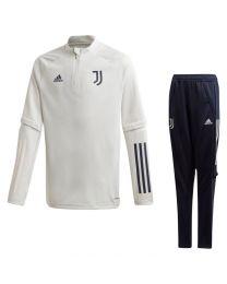 adidas Juventus Trainingspak 2020-2021 Kids Lichtgrijs Donkerblauw