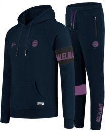 Malelions Sport Captain Tracksuit - Navy/Purple