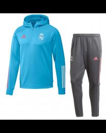 Adidas Real Madrid Track Hoodie Suit 2020-2021 Blauw