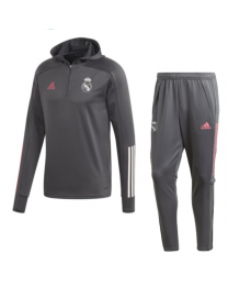 Adidas Real Madrid Track Hoodie Suit 2020-2021 Grijs